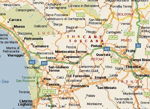 Getting To Bagni Di Lucca - Printable map of tuscany